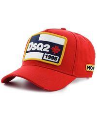 DSquared² Dsq2 Baseball Cap - Rood