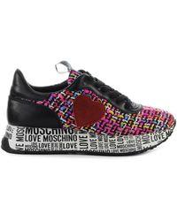 Love Moschino Veelkleurige Geweven Sneaker - Meerkleurig