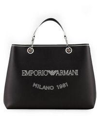 Emporio Armani Myea Zwarte Shopper Met Logo