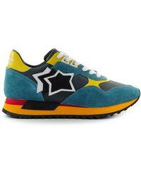 Atlantic Stars Draco Benzine Blauw Gele Sneaker - Geel