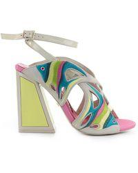 Kat Maconie Pisces Roze Geel Sandaal - Blauw