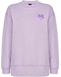 Pinko Sano Lila Katoenen Sweatshirt - Roze
