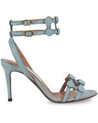 L'Autre Chose Sky Grey Buttons Gehakt Sandal - Grijs