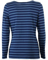 Saint James Minquidame Marinet-shirt Met Lange Mouwen - Blauw