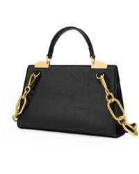Love Moschino Zwarte Handtas Met Gouden Studs