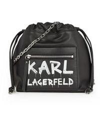 Karl Lagerfeld K/soho Graffiti Zwart Emmer Tas