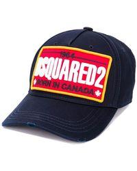 DSquared² Marineblauw Baseball Cap Met Patch