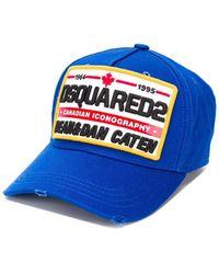 DSquared² Patch Bluette Baseball Cap - Blauw