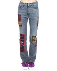 Marcelo Burlon Tarot Straight Jeans - Grey