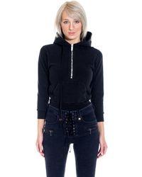 Unravel Project Terry Zip Body Hoody - Black