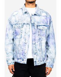 Alchemist Logan Tweed Denim Jacket - Blue