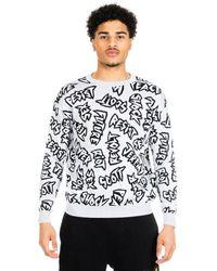 Jeremy Scott Revolt Knit Sweater - Gray