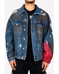 Alchemist Wyatt Dip Dyed Denim Jacket - Blue