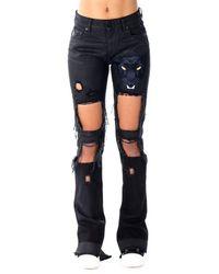 Marcelo Burlon Maive Skinny Fit Jeans - Black