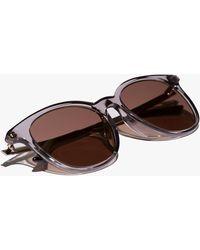 Gucci Round Acetate Sunglasses - Gray