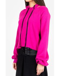 Unravel Project Cot Cashmere Hoody - Pink