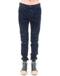 Marcelo Burlon Snake Biker Jeans - Black