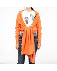 Unravel Project Drape Hooded Cape - Orange
