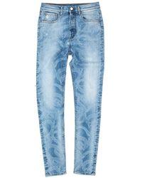 Marcelo Burlon All Over Snake Skinny Jeans - Blue