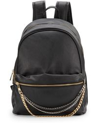 Saks Fifth Avenue Stella Chain-trimmed Faux Leather Backpack - Black