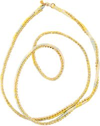 Alyssa Norton - Yellow Silk Rhinestone Wrap - Lyst
