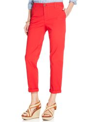 Tommy Hilfiger Straight-Leg Rolled Chino Pants - Lyst