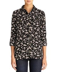 Jones New York Floral Safari Shirt - Lyst