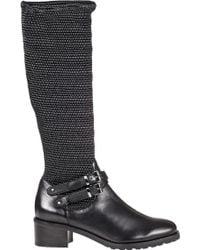 Vaneli For Jildor Vesper Tall Boot Black Leather black - Lyst