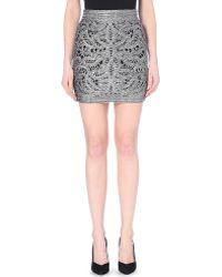 Maje Crochet High-Rise Skirt - For Women silver - Lyst