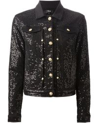 Versus  Sequin Embroidered Denim Jacket - Lyst