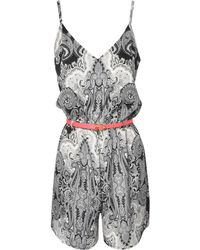 Jane Norman Paisley Print Belted Playsuit - Lyst