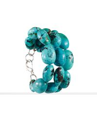 Ralph Lauren Turquoise Triple-row Bracelet - Lyst