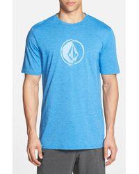 Volcom 'Stacking' Surf Crewneck T-Shirt blue - Lyst