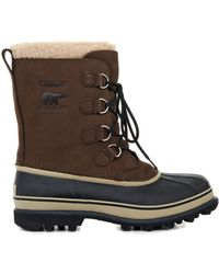 Sorel Caribou™ Nubuck And Rubber Boots - Lyst
