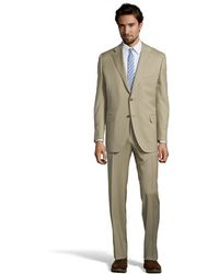 Canali Khaki Wool 2-Button Suit With Pleated Pants - Lyst