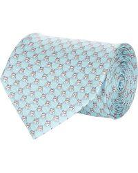 Ferragamo Blue Hippo-print Tie - Lyst
