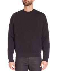 Versace   Medusa Neoprene Sweatshirt   Lyst