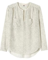 Rebecca Taylor Heathered Print Top - Lyst