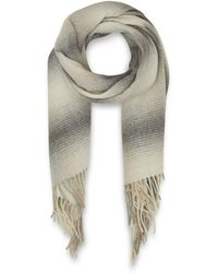 Day Birger Et Mikkelsen Grey Tender Checks Lambswool Scarf - Lyst
