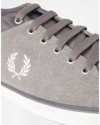 Fred Perry Hallam Canvas Sneakers - Lyst