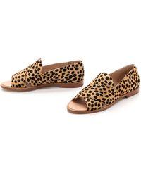 Loeffler Randall Hannele Haircalf Flats - Cheetah - Lyst