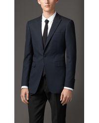 Burberry Slim Fit Pin Dot Wool Blend Jacket - Lyst