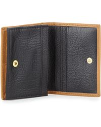 Hare + Hart Colorblock Leather Card Case - Natural