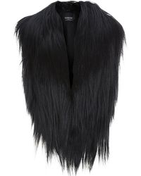 Harrods - Cropped Goat Hair Gilet - Lyst