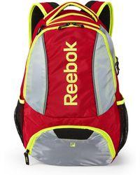 Reebok - Red & Grey Tornado Backpack - Lyst