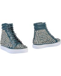 Jeffrey Campbell Teal Ankle Boots - Lyst