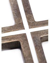 Givenchy Crucifix Brooch - Grey