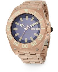 Android - Corsair Auto Rose Goldtone Ip Stainless Steel Watch - Lyst