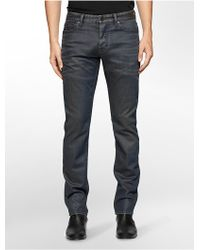 Calvin Klein | Jeans Slim Leg Faded Blue Wash Jeans | Lyst