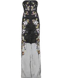 Erdem - Una Embroidered Silk-Blend Organza Jumpsuit - Lyst